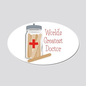 Worlds Greatest Doctor Wall Decal