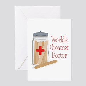 Doctor greeting cards cafepress worlds greatest doctor greeting cards m4hsunfo