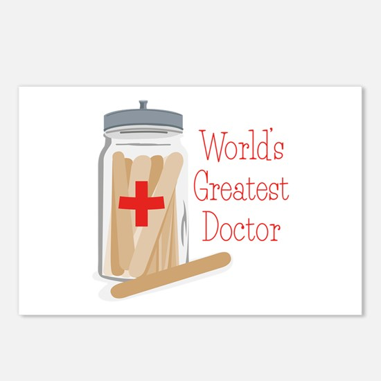 Worlds Greatest Doctor Postcards (Package of 8)