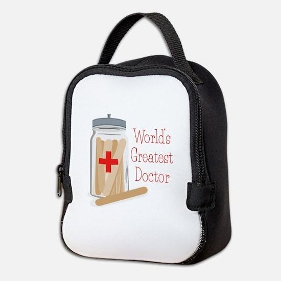 Worlds Greatest Doctor Neoprene Lunch Bag