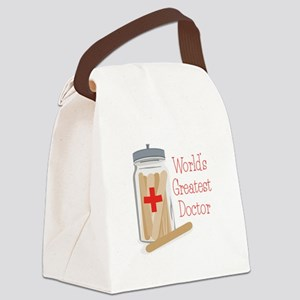 Worlds Greatest Doctor Canvas Lunch Bag