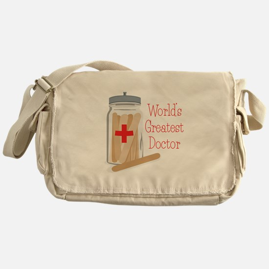 Worlds Greatest Doctor Messenger Bag
