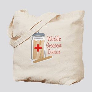 Worlds Greatest Doctor Tote Bag