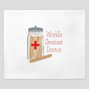 Worlds Greatest Doctor King Duvet