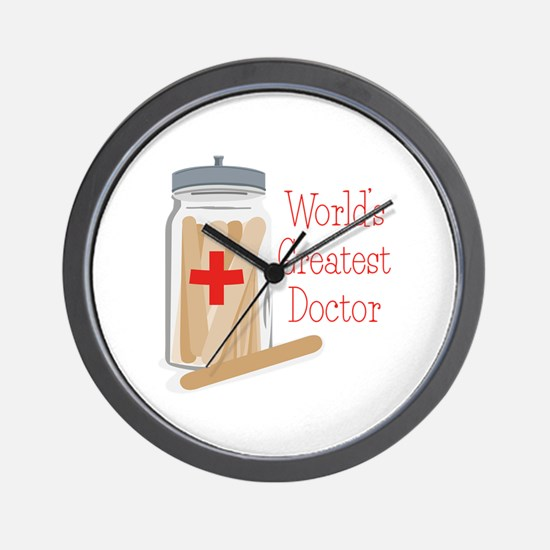 Worlds Greatest Doctor Wall Clock