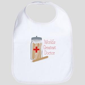 Worlds Greatest Doctor Bib