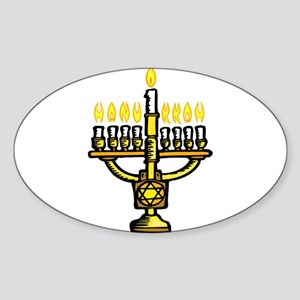 Menorah for Hanukkah Sticker