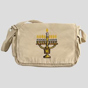Menorah for Hanukkah Messenger Bag