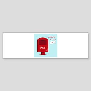 Sending Love Bumper Sticker