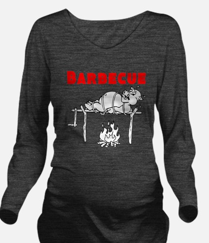 Barbecue Long Sleeve Maternity T-Shirt