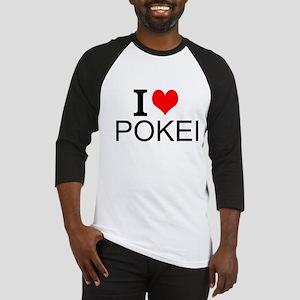 I Love Poker Baseball Jersey