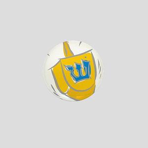 yellow dreidel Mini Button
