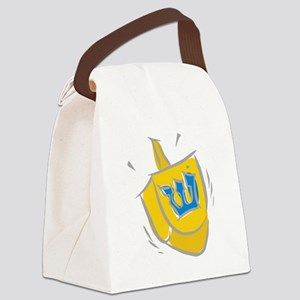 yellow dreidel Canvas Lunch Bag