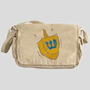 yellow dreidel Messenger Bag