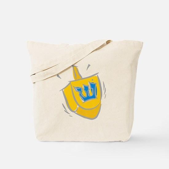 yellow dreidel.png Tote Bag