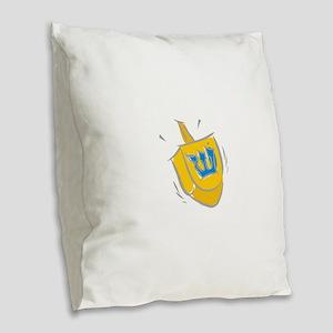 yellow dreidel Burlap Throw Pillow