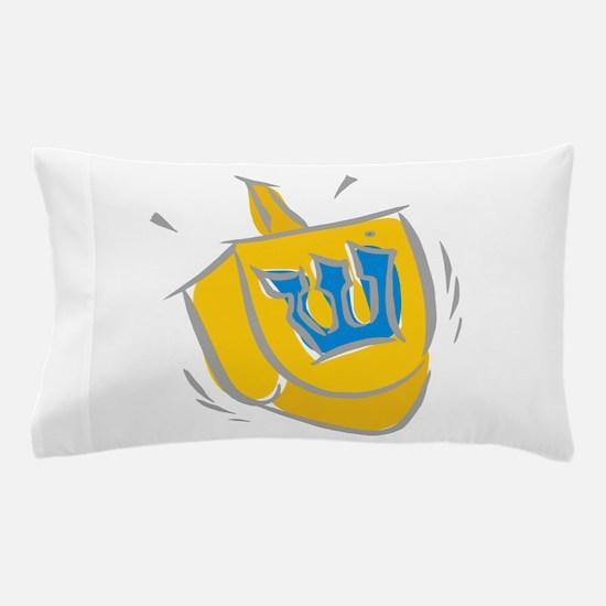 yellow dreidel.png Pillow Case