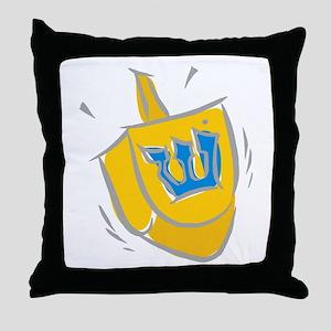 yellow dreidel Throw Pillow