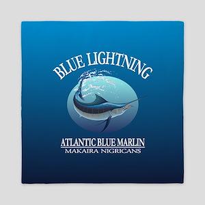 Blue Lightning Queen Duvet