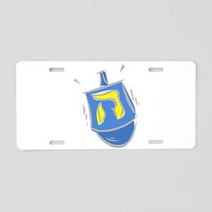 blue dreidel Aluminum License Plate