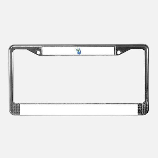 blue dreidel.png License Plate Frame
