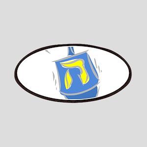 blue dreidel Patches