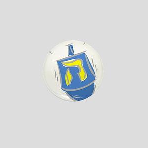 blue dreidel Mini Button
