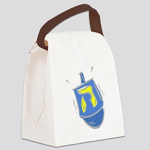 blue dreidel Canvas Lunch Bag