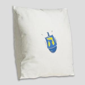 blue dreidel Burlap Throw Pillow