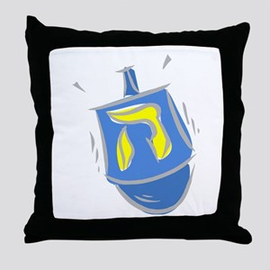 blue dreidel Throw Pillow