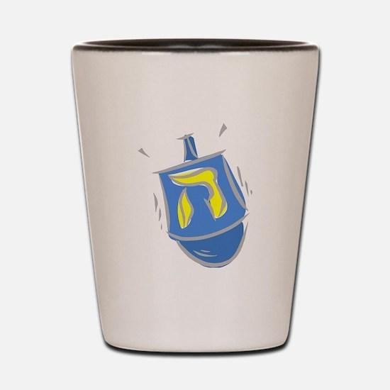 blue dreidel.png Shot Glass