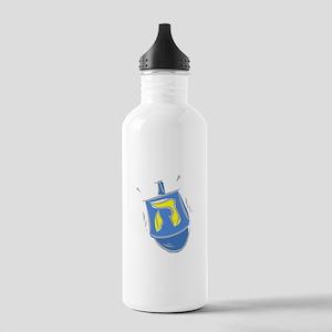 blue dreidel Water Bottle