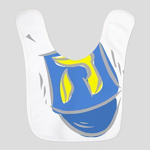 blue dreidel Bib
