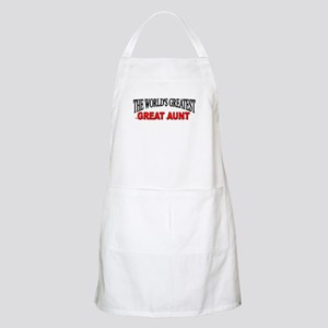 """""""The World's Greatest Great Aunt"""" BBQ Apron"""