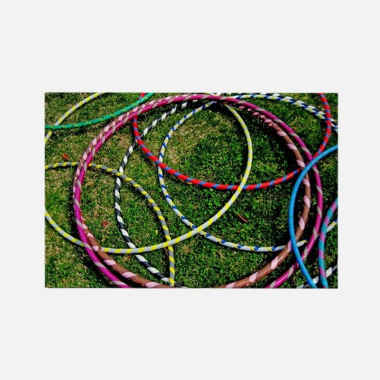 Hoops on the Ground Rectangle Magnet