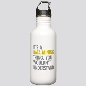 Its A Data Mining Thin Stainless Water Bottle 1.0L