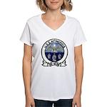 USS McMORRIS Women's V-Neck T-Shirt