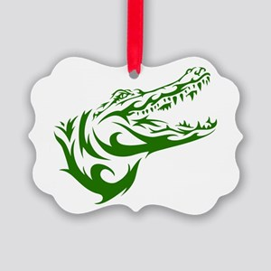 Tribal Croc Ornament