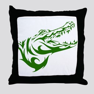 Tribal Croc Throw Pillow