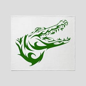 Tribal Croc Throw Blanket