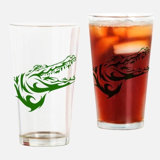 Tribal Croc Drinking Glass
