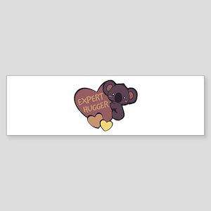 Expert Hugger Bumper Sticker