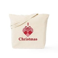 I Heart Christmas Tote Bag