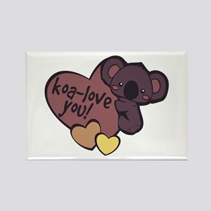 Koa-Love You Magnets
