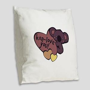 Koa-Love You Burlap Throw Pillow