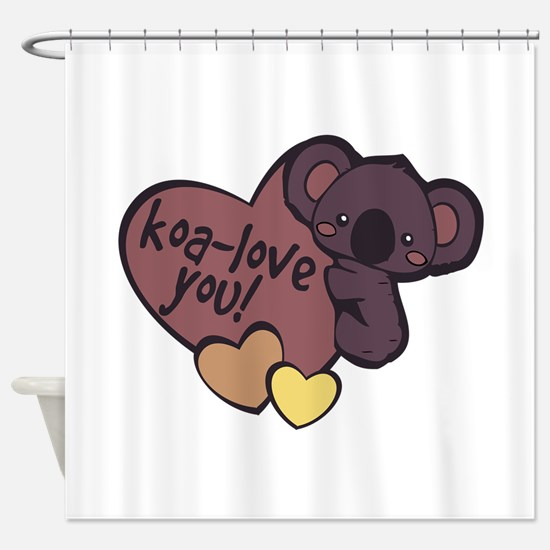 Koa-Love You Shower Curtain