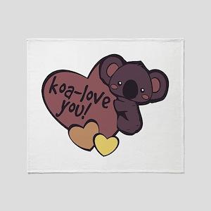 Koa-Love You Throw Blanket