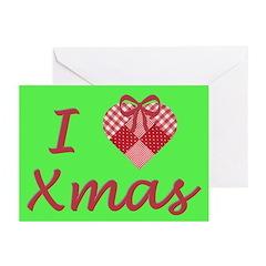 I Heart Xmas Greeting Cards (Pk of 20)
