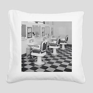 Executive Barber Shop, 1935 Square Canvas Pillow