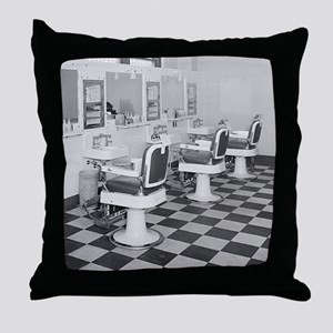 Executive Barber Shop, 1935 Throw Pillow
